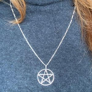 Jewelry - 🌟ON SALE🌟Pentagram  silver pendant and chain